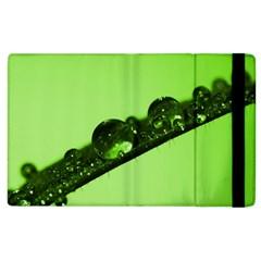 Green Drops Apple iPad 3/4 Flip Case