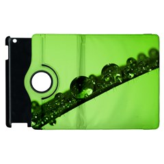 Green Drops Apple iPad 3/4 Flip 360 Case