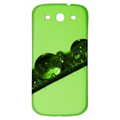 Green Drops Samsung Galaxy S3 S III Classic Hardshell Back Case