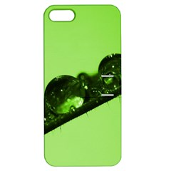 Green Drops Apple Iphone 5 Hardshell Case With Stand