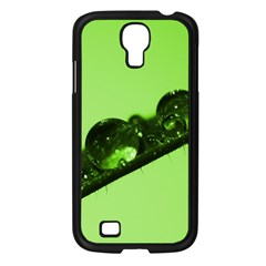 Green Drops Samsung Galaxy S4 I9500/ I9505 Case (Black)