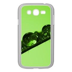 Green Drops Samsung Galaxy Grand DUOS I9082 Case (White)