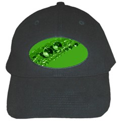 Green Drops Black Baseball Cap