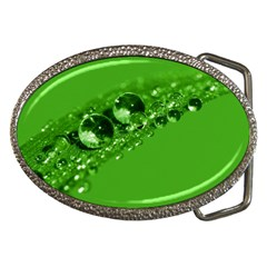 Green Drops Belt Buckle (oval)