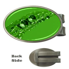 Green Drops Money Clip (Oval)