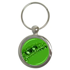 Green Drops Key Chain (round)