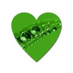 Green Drops Magnet (Heart)