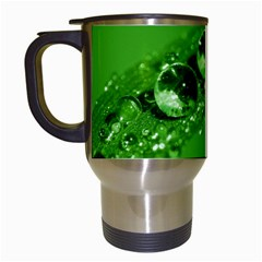 Green Drops Travel Mug (White)