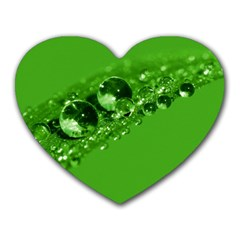 Green Drops Mouse Pad (heart)