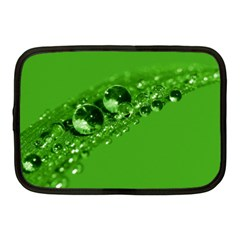 Green Drops Netbook Case (Medium)