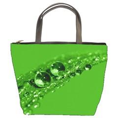 Green Drops Bucket Bag