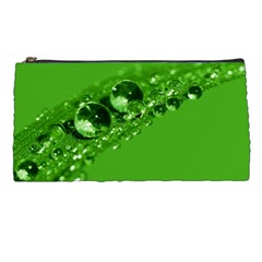 Green Drops Pencil Case