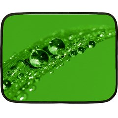 Green Drops Mini Fleece Blanket (two Sided)