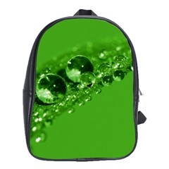 Green Drops School Bag (Large)