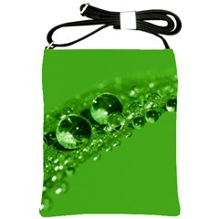 Green Drops Shoulder Sling Bag