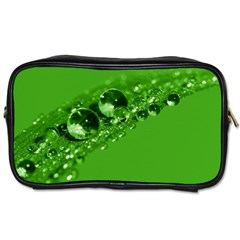 Green Drops Travel Toiletry Bag (Two Sides)