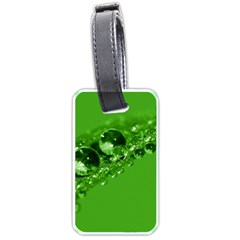 Green Drops Luggage Tag (Two Sides)