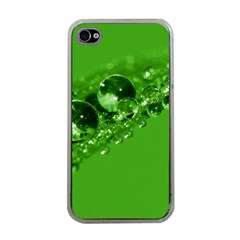 Green Drops Apple iPhone 4 Case (Clear)