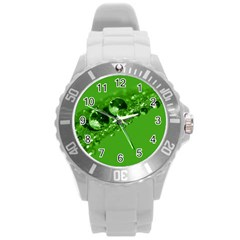 Green Drops Plastic Sport Watch (Large)