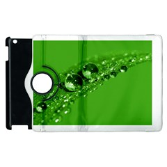 Green Drops Apple Ipad 2 Flip 360 Case