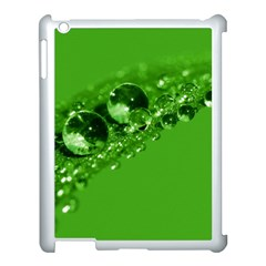 Green Drops Apple iPad 3/4 Case (White)