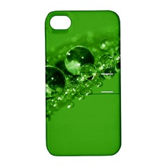 Green Drops Apple iPhone 4/4S Hardshell Case with Stand