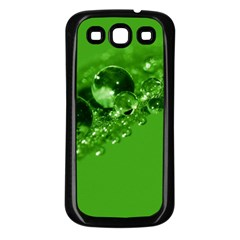 Green Drops Samsung Galaxy S3 Back Case (Black)