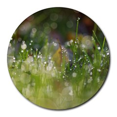 Drops 8  Mouse Pad (Round)