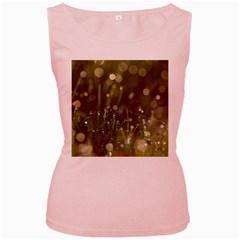 Waterdrops Womens  Tank Top (Pink)