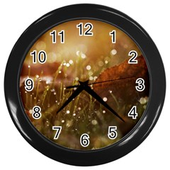 Waterdrops Wall Clock (black)