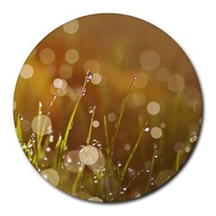Waterdrops 8  Mouse Pad (round)