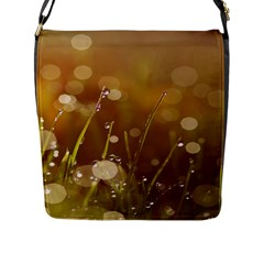 Waterdrops Flap Closure Messenger Bag (Large)