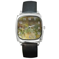 Sundrops Square Leather Watch