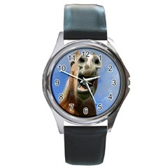 Haflinger  Round Metal Watch (silver Rim)