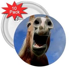 Haflinger  3  Button (10 pack)