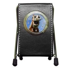Haflinger  Stationery Holder Clock