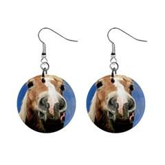 Haflinger  Mini Button Earrings