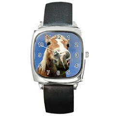 Haflinger  Square Leather Watch