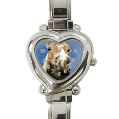 Haflinger  Heart Italian Charm Watch