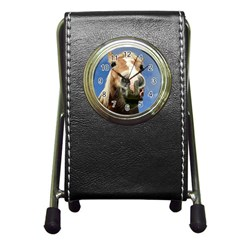 Haflinger  Stationery Holder Clock