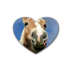 Haflinger  Drink Coasters 4 Pack (heart)