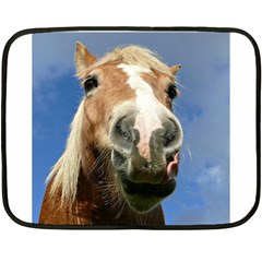 Haflinger  Mini Fleece Blanket (Two Sided)