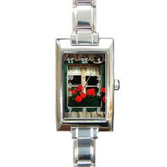 Window Rectangular Italian Charm Watch