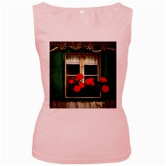 Window Womens  Tank Top (pink)