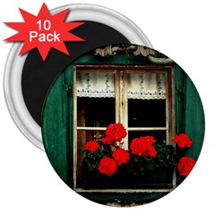 Window 3  Button Magnet (10 pack)