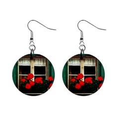 Window Mini Button Earrings