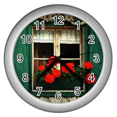 Window Wall Clock (Silver)
