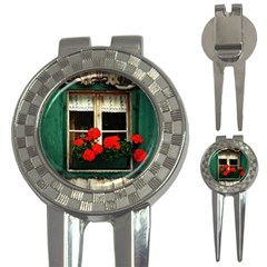 Window Golf Pitchfork & Ball Marker