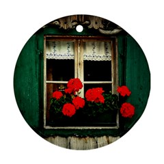 Window Round Ornament (Two Sides)