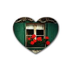 Window Drink Coasters (Heart)